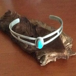 Rare turquoise cuff sterling silver